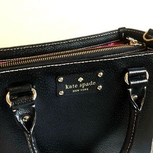 Kate Spade Black Leather with Texture Box Purse
